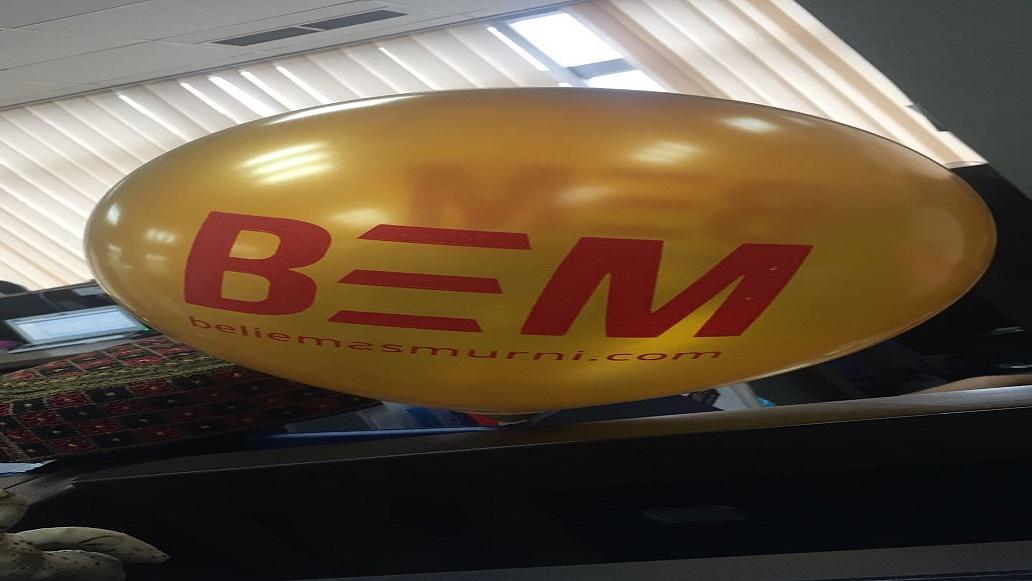 Launching Produk Terbaru dari Beli Emas Murni (BEM) dengan Balon Print Metalik Warna Emas