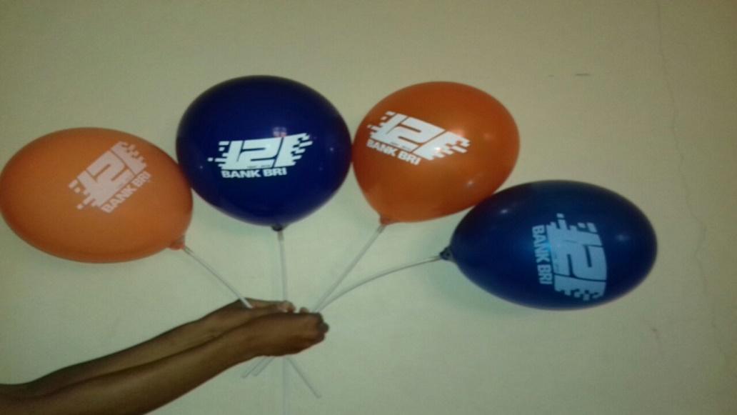 Balon Sablon Untuk Ulang Tahun BRI Ke 121 yang Meriah